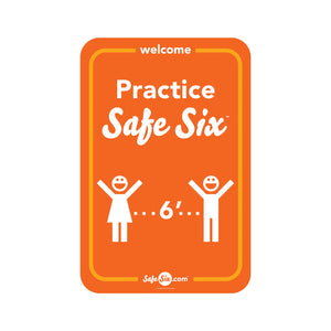 Safe Six Decal, Window / Wall - Large