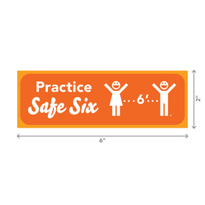 Safe Six Sticker – Rectangle