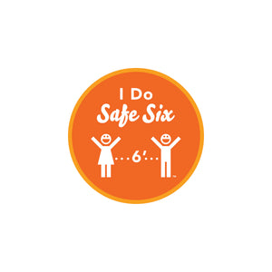 Safe Six Round Sticker