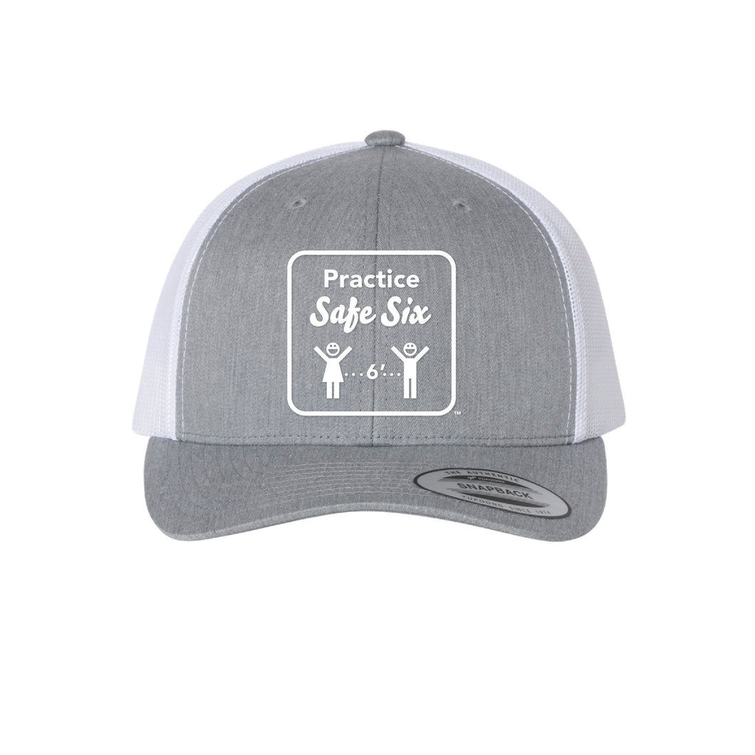 Safe Six Trucker Hat-Grey