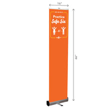 Load image into Gallery viewer, Safe Six Retractable Banner