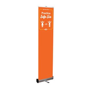 Safe Six Retractable Banner