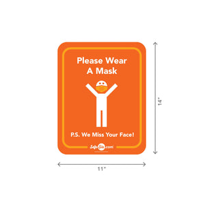 Please Wear a Mask Decal, Window / Wall – Small