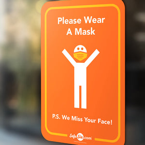 Please Wear A Mask Decal, Window / Wall - Large