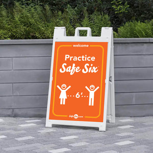 Safe Six A-Frame Sign