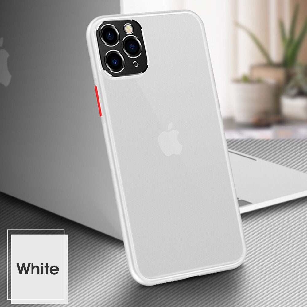 Luxury Camera Lens Protection Soft  Case For iPhone