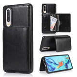 Luxury Leather Card Holder Wallet Case for Huawei