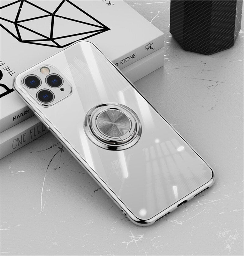 Luxury Electroplated Ring Holder Case For iPhone