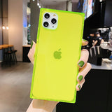 Fashion Square TPU Phone Case For iPhone