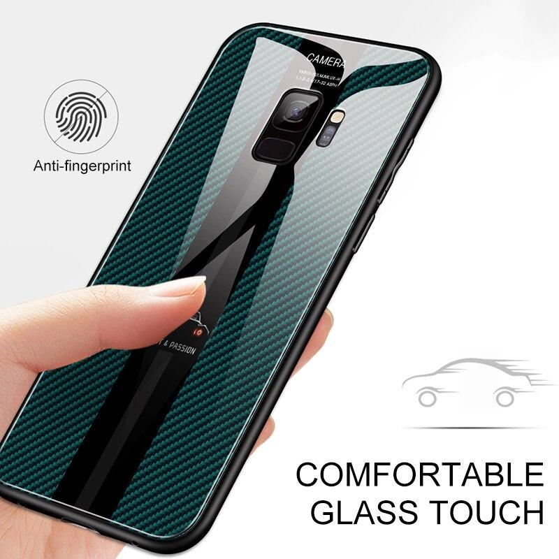 Fashion Tempered Glass Soft Edge Case For Samsung