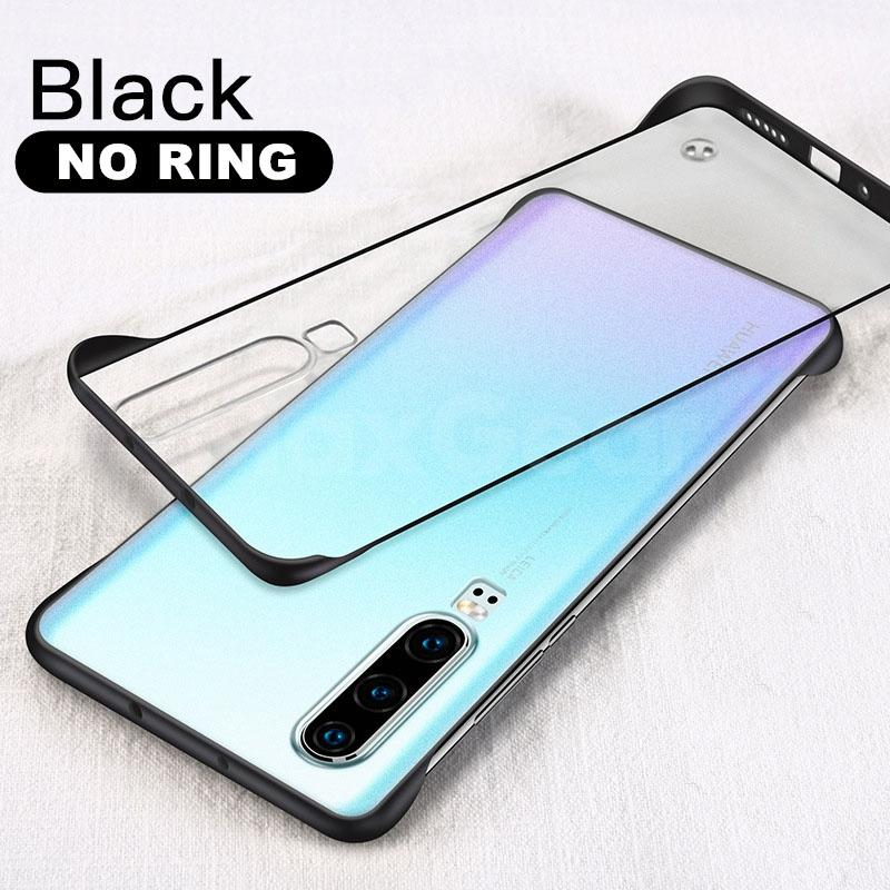 Matte Clear Frameless Ring Case For Huawei