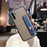 Luxury Matte Strap Holder Case For Samsung