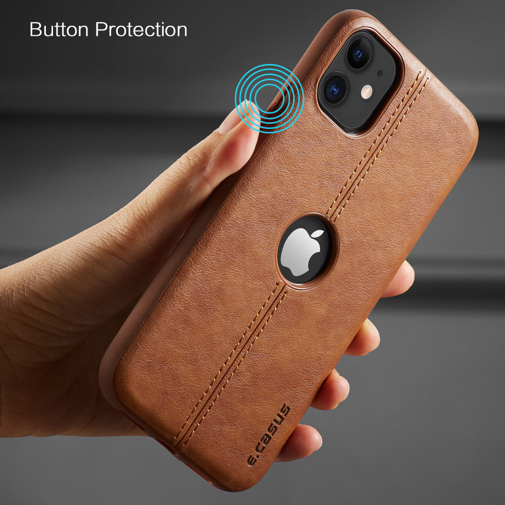 Luxury Leather Shockproof Case For iPhone