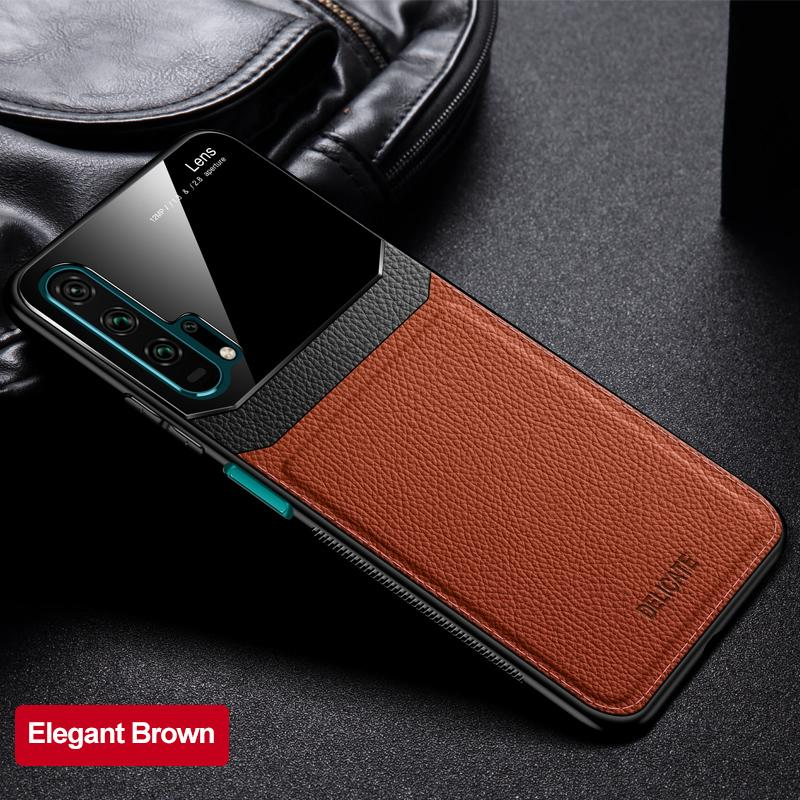 Luxury Leather Mirror Lens Case For Huawei