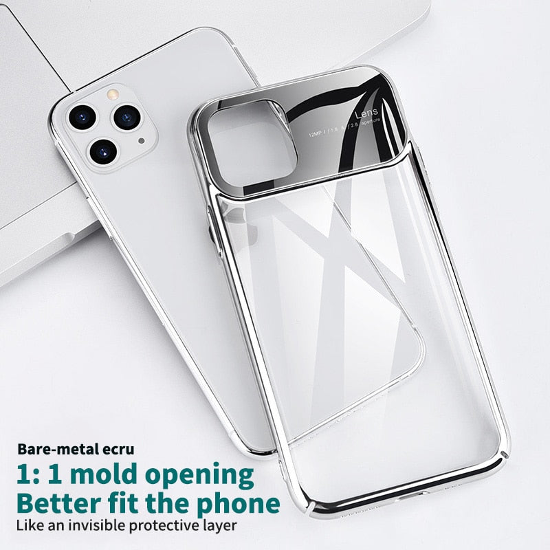 Luxury Mirror Glass Hard Phone Case For iPhone