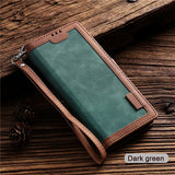 Luxury Leather Ultra Flip Wallet Case For Samsung