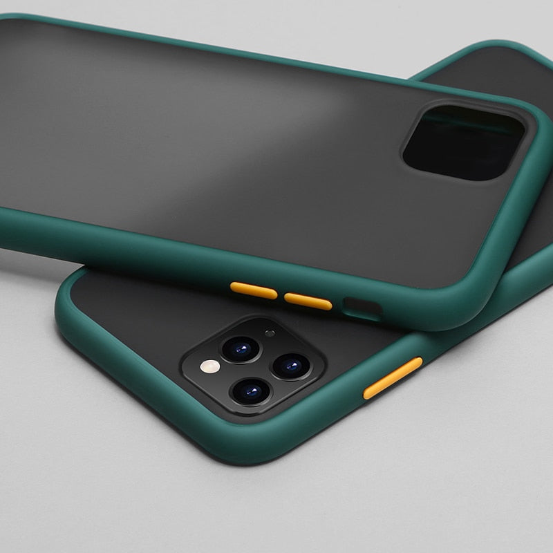 Luxury Contrast Color Matte Case For iPhone