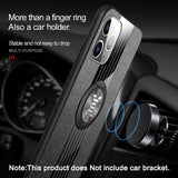 Luxury Leather Armor Ring Holder Case For For iPhone