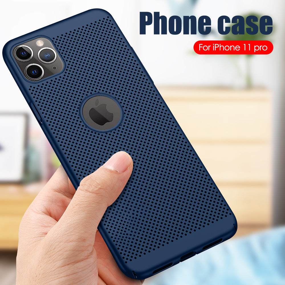 Luxury Hollow Slim Hard PC Case For iPhone