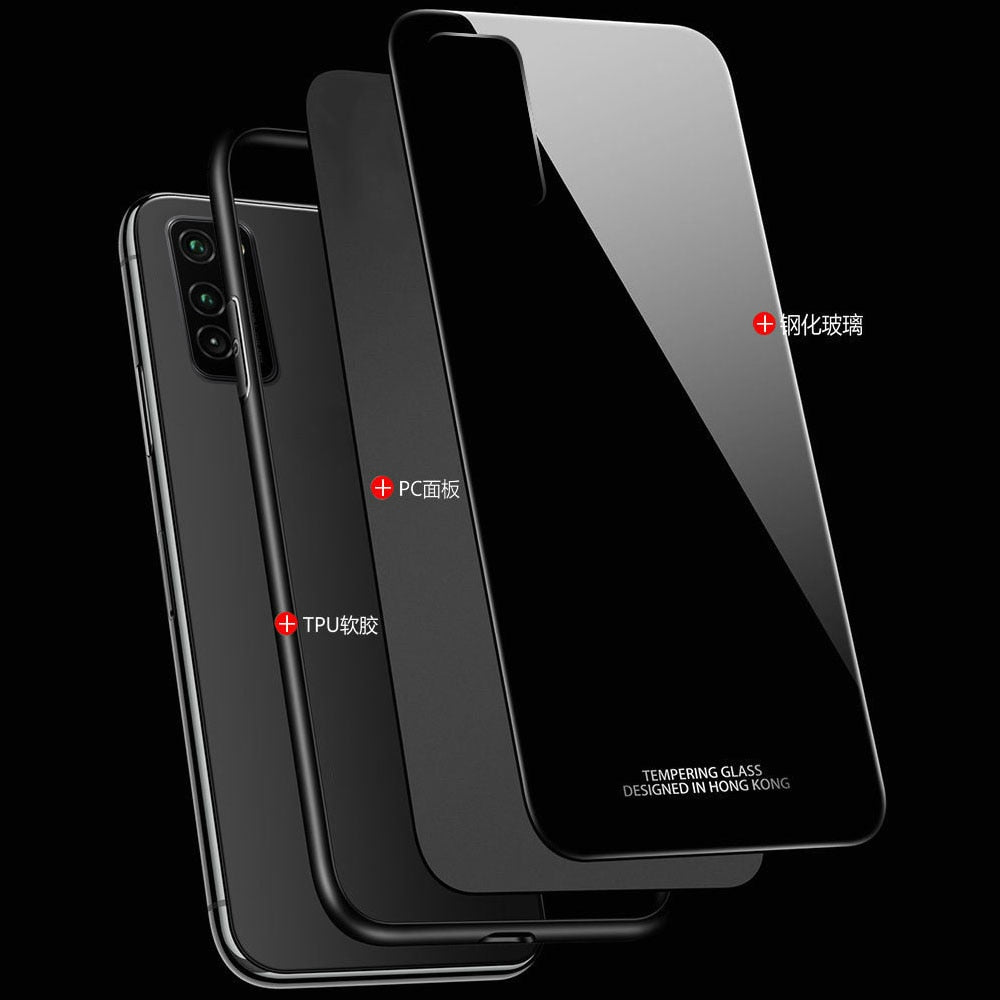 Luxury Tempered Glass Back Case for Samsung