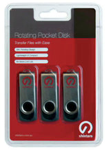 Load image into Gallery viewer, Shintaro 16GB Rotating Pocket Disk 3 Pack USB2.0