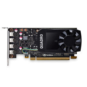 Leadtek Quadro P1000 Work Station Graphics Card PCIE 4GB DDR5, 4H(mDP), Single Slot, 1x Fan