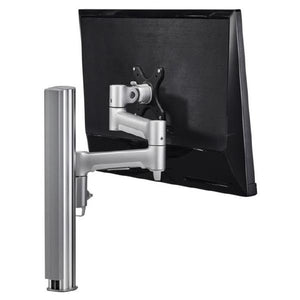 Atdec AWM Single monitor arm solution - 460mm articulating arm - 400mm post - bolt - silver