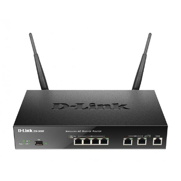 D-LINK DSR-1000AC Unified Wireless AC Services Router with 4 LAN and 2 WAN Gigabit Interfaces (2 USB 2.0 Ports)