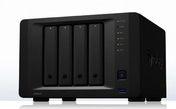 Synology NVR DVA3219 - 4 Bay NVR with an Intel Atom C3538, NVIDIA GeForce GTX 1050 Ti , 4GB RAM + 8 device licenses included - Advanced PC and Simulations