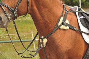 HKM Leather Five Point Breastplate -0