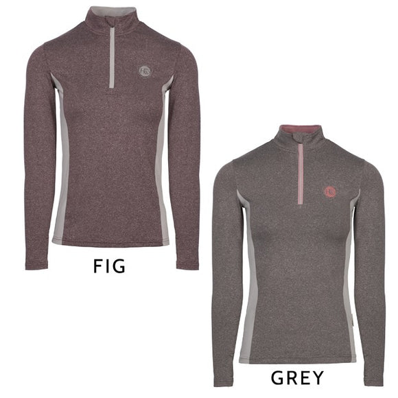 Horseware Aveen Melange Half Zip Tech Top - Grey Colour