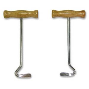Boot Pulls with Wooden Handles