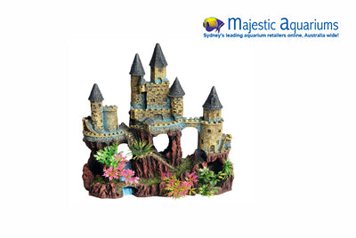 Castle With River And Plant 22x12x23.5cmh