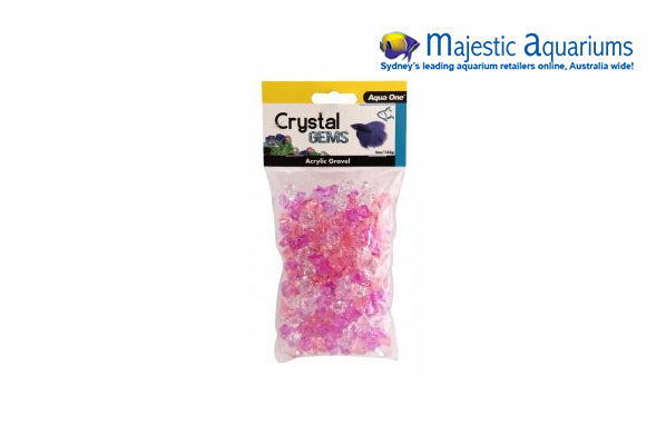 Crystal Gems Acrylic Betta Gravel 145g 15mm Purple Passion