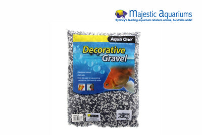 Decorative Gravel 2kg Mixed White Black 2mm