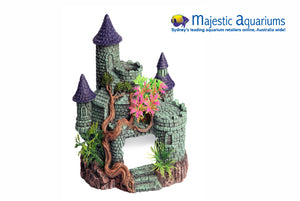 Ornament Castle with Tree and Plant 15x12x