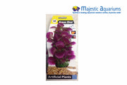 Plastic Plant Purple Hottonia W Gravel Base M