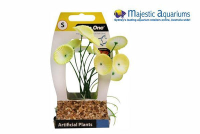 Plastic Plant Narcissus W Log Base Sm