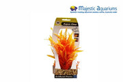 Plastic Plant Orange Cabomba W Gravel Base M