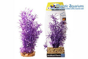 Plastic Plant Purple Hygrophila W Gravel Base L