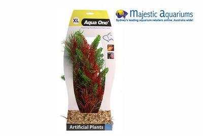 Plastic Plant Red Pontederia Typha W Gravel Base XL