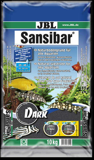JBL SANSIBAR DARK (BLACK AQUARIUM SAND) 10Kg