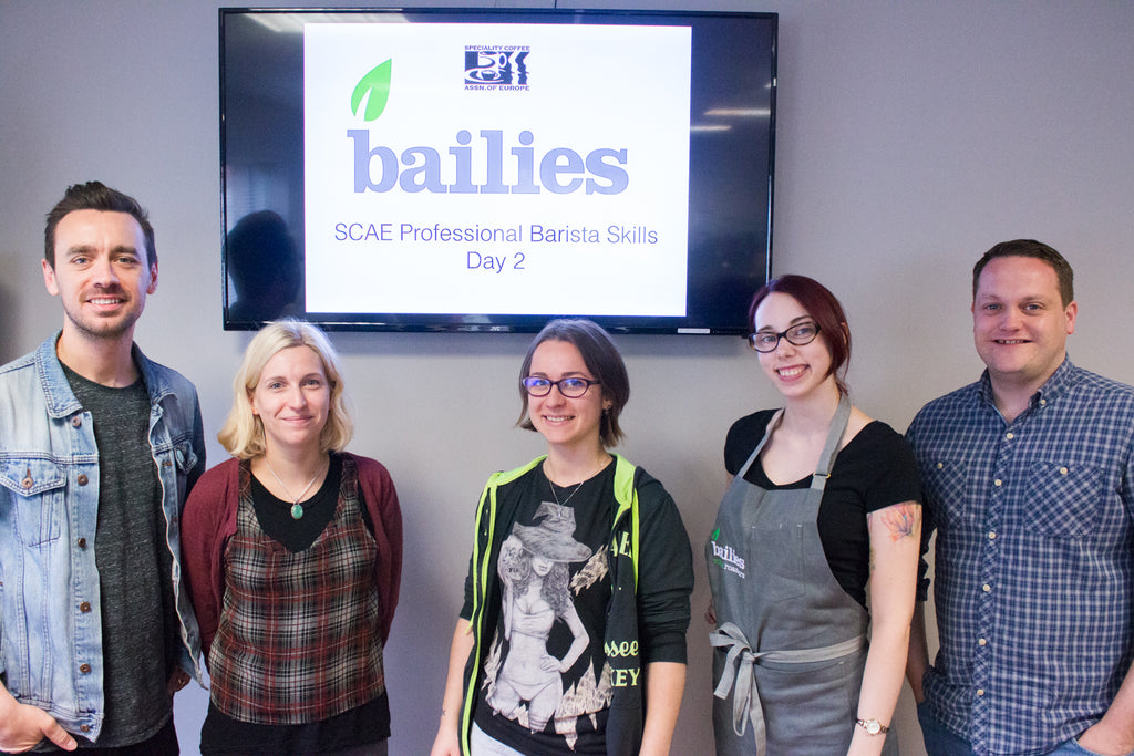 SCAE Professional Barista Course at Bailies