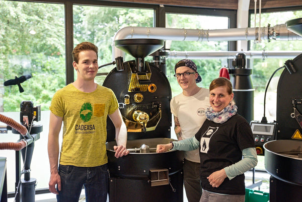 Stephen Houston Jan Komarek Coffee Roaster Bailies Coffee Probat