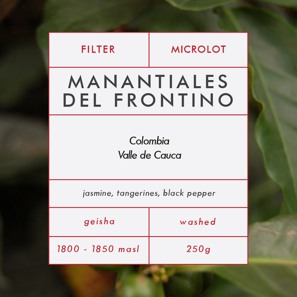 Colombia Manantiales Del Frontino Geisha 250g Roasted 21/03/2017