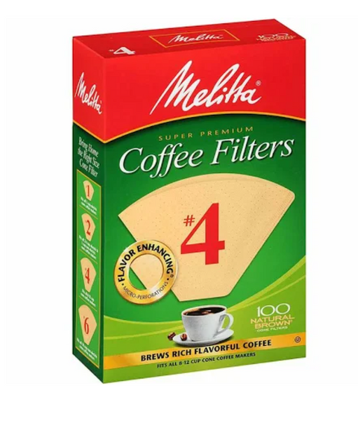 Melitta #4 Natural Coffee Filters - Bailies Coffee Roasters