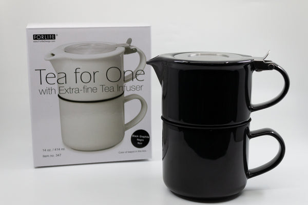 ForLife Tea for One Teapot & Cup 14oz with Stainless Steel Infuser