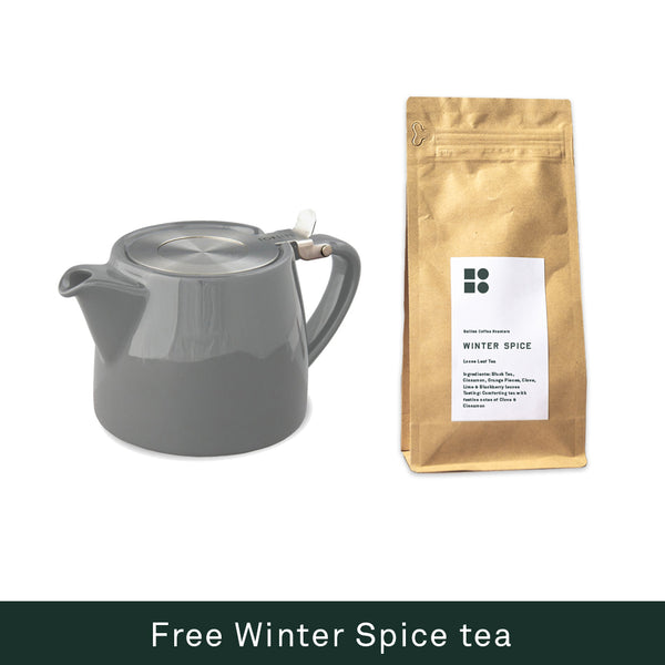 ForLife Stump Teapot + Free Winter Spice Loose Leaf Tea 120g