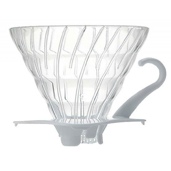 Hario V60 Glass Dripper with White Base - Bailies Coffee Roasters
