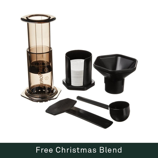 Aerobie AeroPress Coffee Maker + Free Christmas Blend 250g - Bailies Coffee Roasters